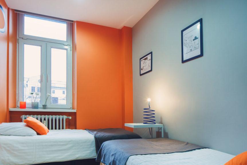 Quarto Duplo Com Banheiro Compartilhado Mosquito Hostel Krakow